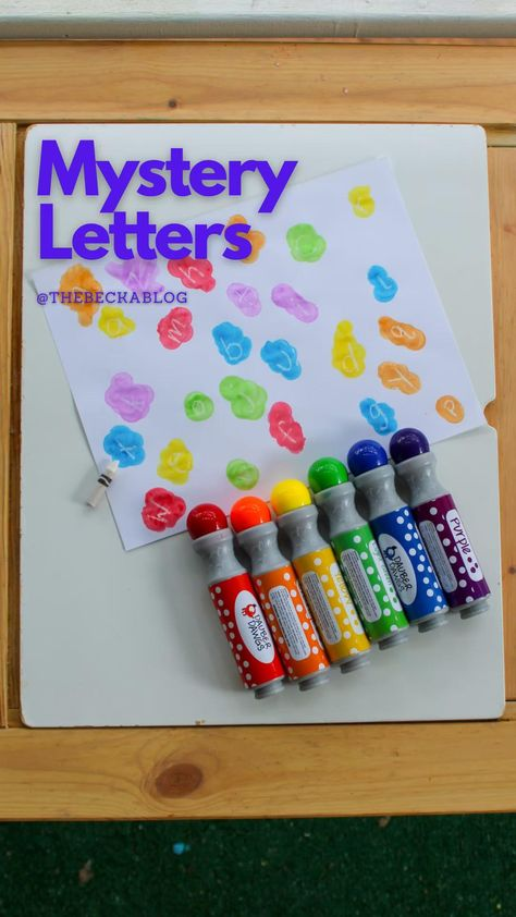 Letter Learning with Dot Markers