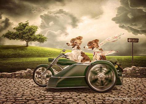 Motorcycle And Side Car Digital Background Digital Backdrop