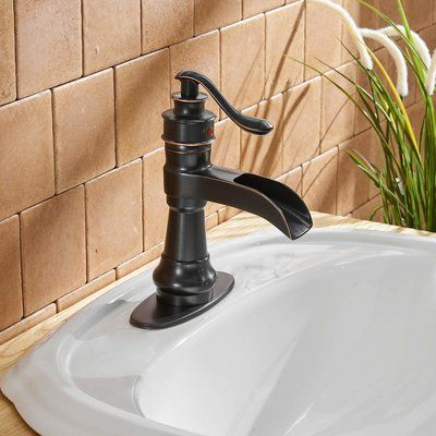 Aquafaucet Dfi Centerset Bathroom Faucet Finish Oil Rubbed Bronze