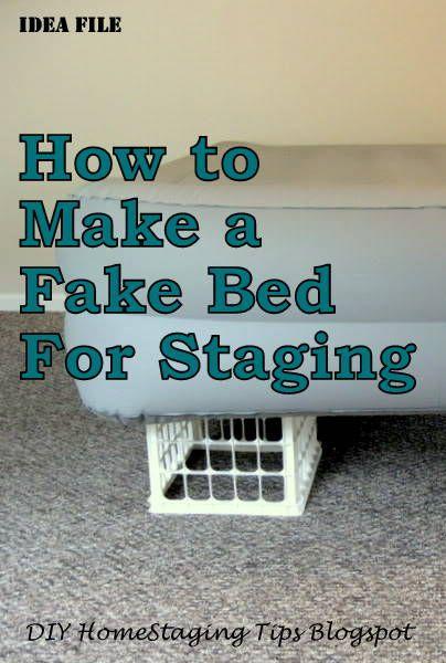 DIY Home Staging Tips: Bedroom Staging: DIY Headboard And Make Believe Bed  | Interior Design | Pinterest | Diy Headboards, Bedrooms And Interiors