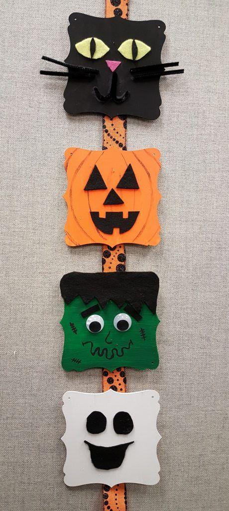 Diy Halloween Wood Plaque Decoration S S Blog Halloween Crafts To Sell Halloween Diy Crafts Halloween Crafts Decorations