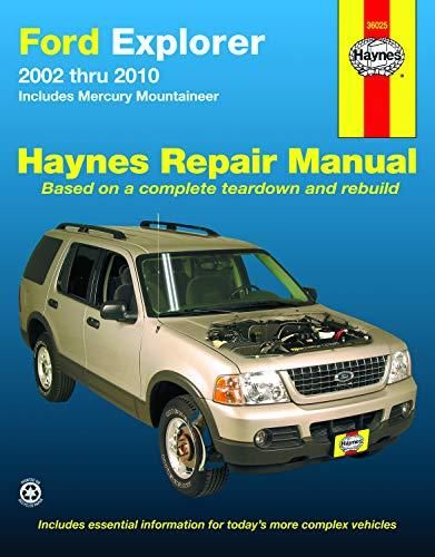 Download Pdf Ford Explorer Mercury Mountainer 02 10 Haynes Repair Manual Repair Manuals Ford Explorer Ford Escape