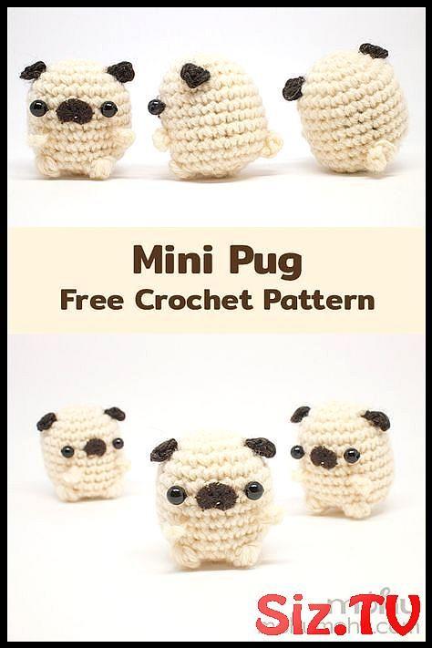 Baby Pug Dog amigurumi pattern - Amigurumi Today | 711x474