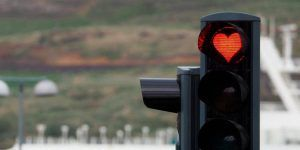 In Akureyri Iceland Heart Shaped Stoplights Are A Daily Reminder To Smile Isabella Of Castile Stop Light Animal Sculptures
