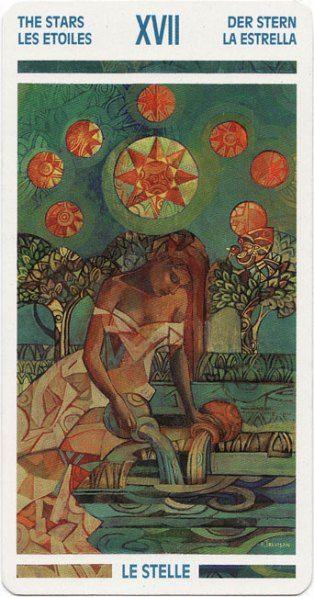 Arcano 17 Energía Fodeh La Estrella Arte De Acuario Arte Pagano Estrellas
