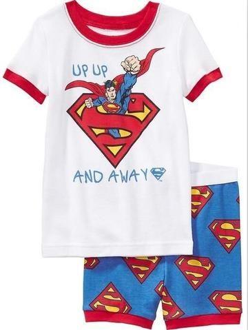 0fdecf1946e20 Summer Pajamas Short Sleeve Boys Sleepwear Cotton Pyjamas Children ...