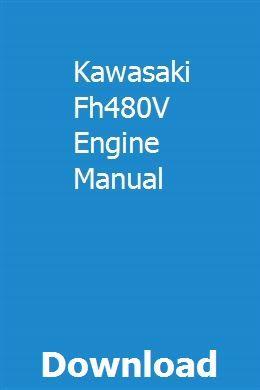 kawasaki engine manual download