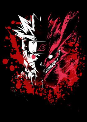 Naruto Kyuubi Anime Manga Poster Print Metal Posters