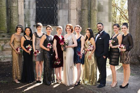 Bridal party // Lauren & Jon's wedding at Alder Manor in Yonkers, NY // Photo: Jonathan Young