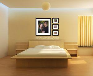 Double Bed Back Wall Design Photo Walls Bedroom Master Bedroom