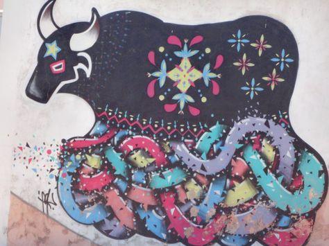 Grafiths no Muro do Instituto Câmara Cascudo, Bumba meu boi