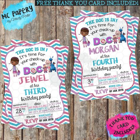 photograph about Doc Mcstuffins Printable Invitations named Document McStuffins Birthday Invitation Mounted Document McStuffins