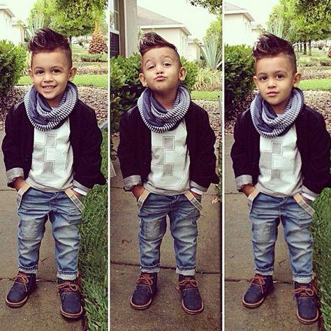 Fashion 3PCS Boys Kids Toddlers Short Sleeve T Shirt Tops Jeans Pants Scarf