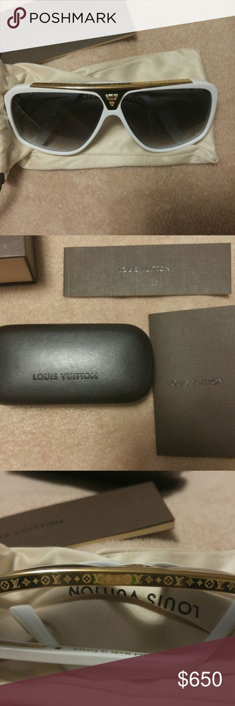 3f1196d624dd Louis Vuitton Evidence sunglasses white Louis Vuitton Evidence sunglasses.  New never worn absolutely flawless.