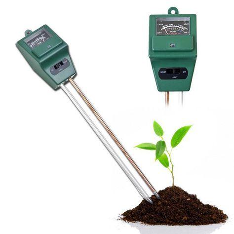 3 in 1 PH Tester Soil Moisture Light Tester Meter Garden Plant Flower Growth BE