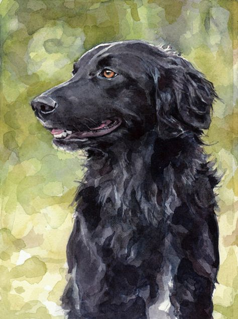 Custom Dog Watercolor Painting 5x7 Realistic Pet Portrait Pet