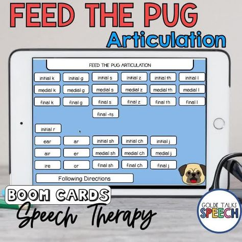 Feed The Pug Articulation Boom Cards