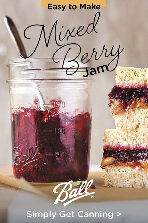 Jelly Recipes, Jam Recipes, Canning Recipes, Mixed Berry Jam, Mixed Berries, Homemade Jelly, Canned Food Storage, Jam And Jelly, I Love Food