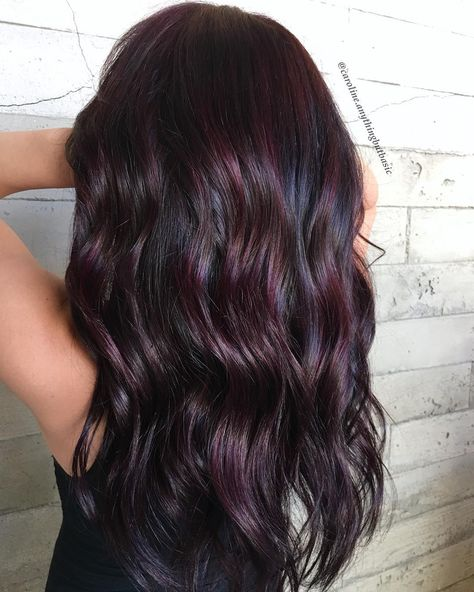 Are you looking for dark winter hair color for blondes balayage brunettes? See our collection full of dark winter hair color for blondes balayage brunettes and get inspired! Burgundy Hair Dye, Ombre Burgundy, Dark Purple, Burgundy Colour, Dark Hair With Burgundy, Burgundy Nails, Color Red, Violet Brown Hair, Dark Ombre