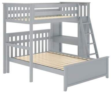 Harriet Bee Geyer Twin Over Full L Shaped Bunk Bed Wayfair In 2020 Bunk Bed With Desk Bunk Beds Bunk Beds With Drawers