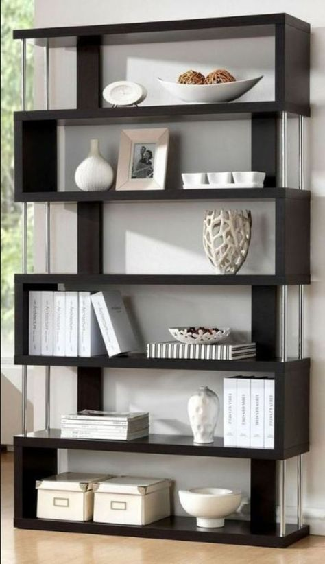 Shelves Can Not Just Be Made Use Of As An Area To Organize Things Yet Likewise Can Be A Room Partition Read O Modern Shelving Living Room Modern Modern Room
