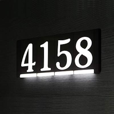 Homidea Backlit Led House Numbers Light Up House Numbers