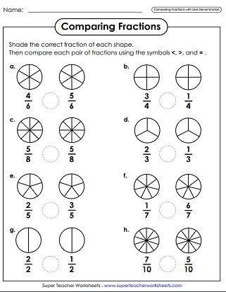 Brush Up On Basic Fractions Fractions Worksheets Basic Math Worksheets Math Fractions