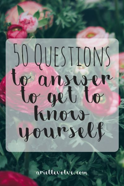 These 50 questions will lead you to self discovery. Find out who you are, and what you really want out of life.