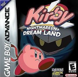 Kirby Nightmare In Dream Land Nintendo Game Boy Advance 2002 Nintendo Game Boy Advance Gameboy Gameboy Advance