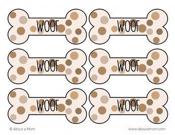 Dog Bone Gift Tags