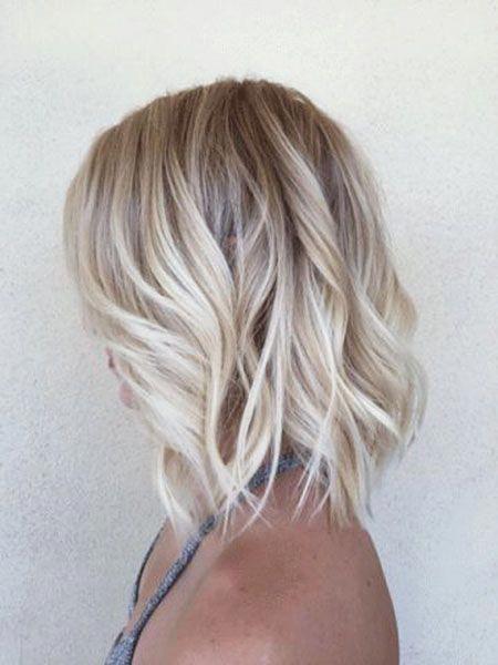 Shoulder Length Blonde Ombre Hair Blondeombre Blonde Lob Hair Blonde Bob Hairstyles Ombre Hair Blonde