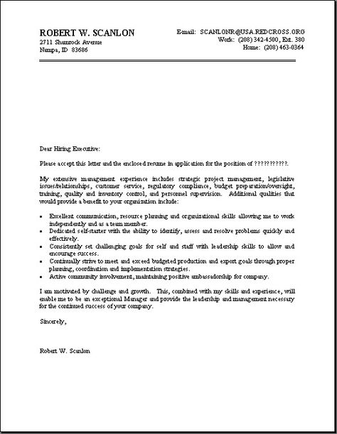 Cover Letter Format For Resume -    jobresumesample 920 - boeing security officer sample resume