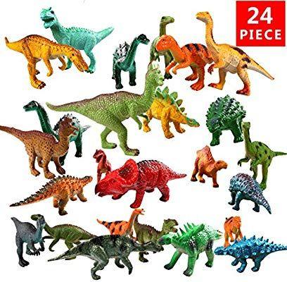 24 Pack Jurassic Dinosaur Figures Toys Set Dinosaur Toy for Kids Christmas Gifts