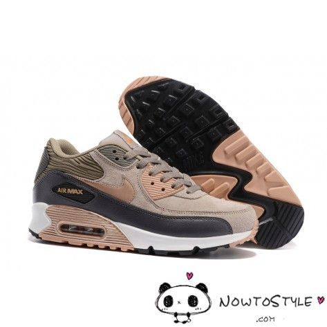 the best attitude 5d114 15383 Nike Air Max 90 Grey Bronze Trainers Brown Rose Gold White