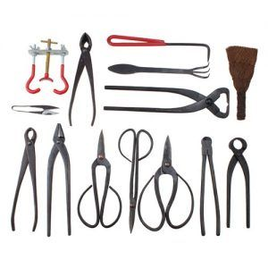 Agpteka Bonsai Tool 14 Piece Carbon Steel Shear Set And Tool Kit