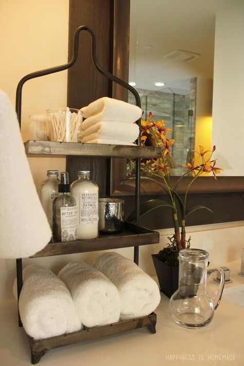 Bathroom at the 2014 HGTV Dream Home...need this shelf for guest bath!