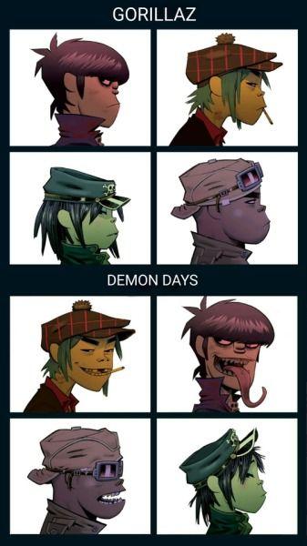 Gorillaz Demon Days, Gorillaz Band, Gorillaz Fan Art, Murdoc Gorillaz, Damon Albarn, Jamie Hewlett Art, Monkeys Band, Cool Bands, Music Artists
