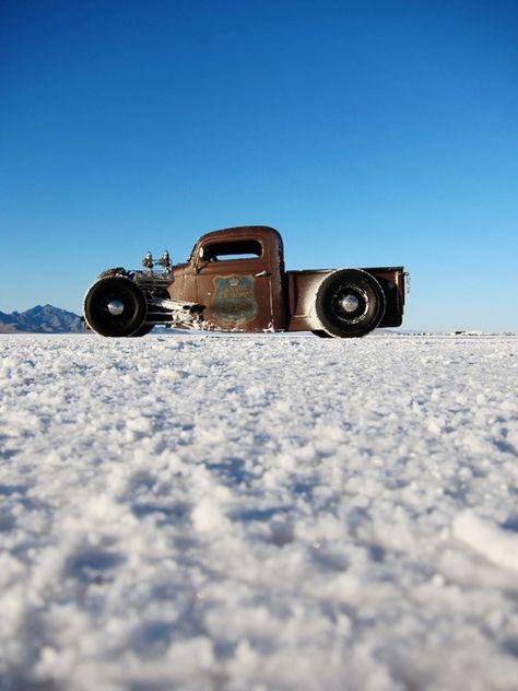 Rat Rod at the salt flats. #classic #truck