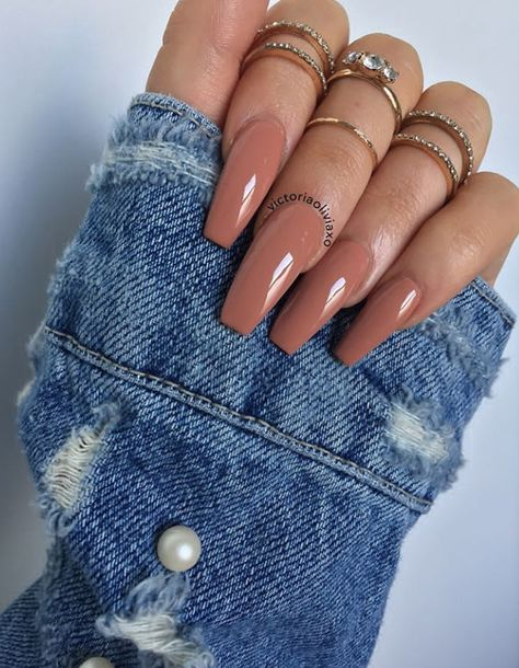 80+ Elegant Nude Coffin Nails Design For Long Nails That Anyone Can Pull Off