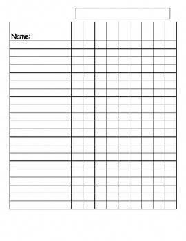 Image Result For Free Printable Class List Template For Teachers