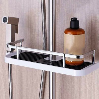 Bathroom Shelf Shower Pole Storage Caddy Rack Organiser Tray Holder Accessory