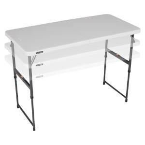 Lifetime 4 Foot Light Commercial Adjustable Fold In Half Tables Are Constructed Of High Density Polyethyl Adjustable Height Table Fold In Half Table Half Table