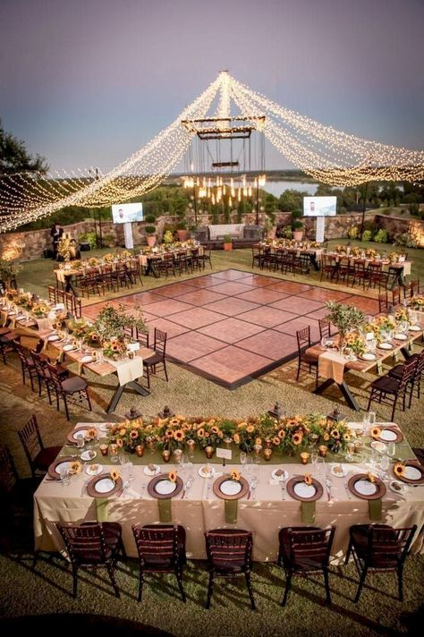 "30 GORGEOUS GARDEN WEDDING DECOR IDEAS - I do Hello guys? We had previously discussed ""backyard"" and ""wedding"" decorations. This time we will combine a gorgeous garden wedding decor. Are you interested in backyard weddings? Planning this type of wedd Wedding Reception Ideas, Seating Plan Wedding, Wedding Ceremony, Wedding Dinner, Outdoor Wedding Venues, Wedding Themes, Outdoor Wedding Lights, Outdoor Night Wedding, Seating Arrangement Wedding"