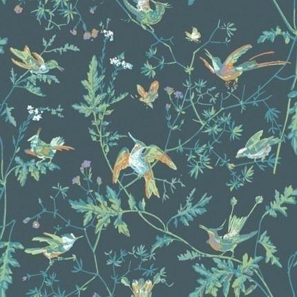 Papier Peint Hummingbirds Cole And Son Papier Peint Papier Peint Botanique Au Fil Des Couleurs