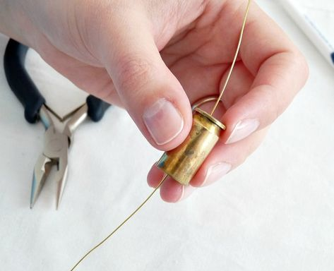 DIY Bullet Shell Casing Necklace