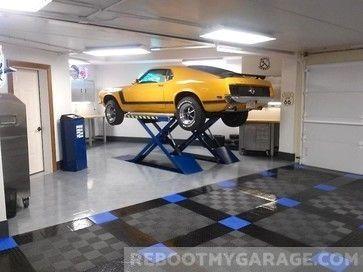 Epoxy Is Too Hard To Get Right Use Tiles Garage House Garage Design Garage Interior