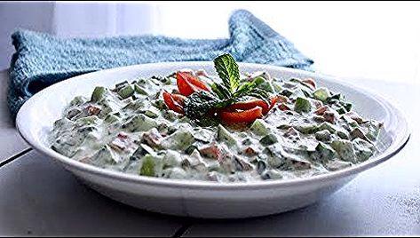 281 أسهل واسرع طريقة لتحضير سلطة الزبادي How To Make Yogurt Salad Youtube Decorative Bowls Salad Bowl