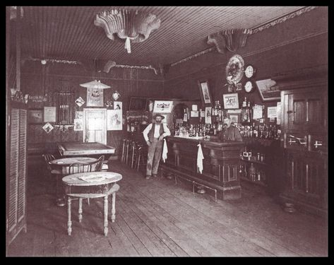 Interior Saloon Photograph Pool Table Bar Antique Old West Dallas Texas Saloon Cool Countries Antiques