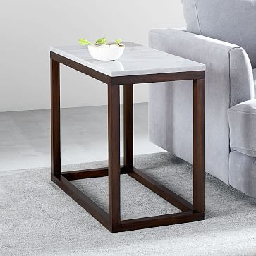 Wood Frame Side Table Marble Side Tables Mid Century Side Table Rustic Side Table