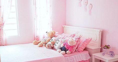 40+ koleski terbaik dekorasi kamar kecil warna pink